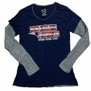 Women NFL New England Patriots long sleeve tee